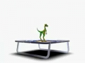Dinosaur On Trampoline
